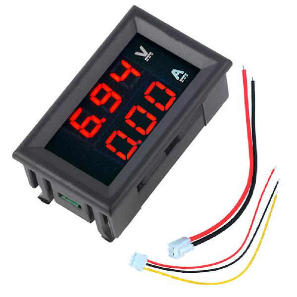 5pcs Mini Digital Voltmeter Ammeter DC 100V 10A Panel Amp