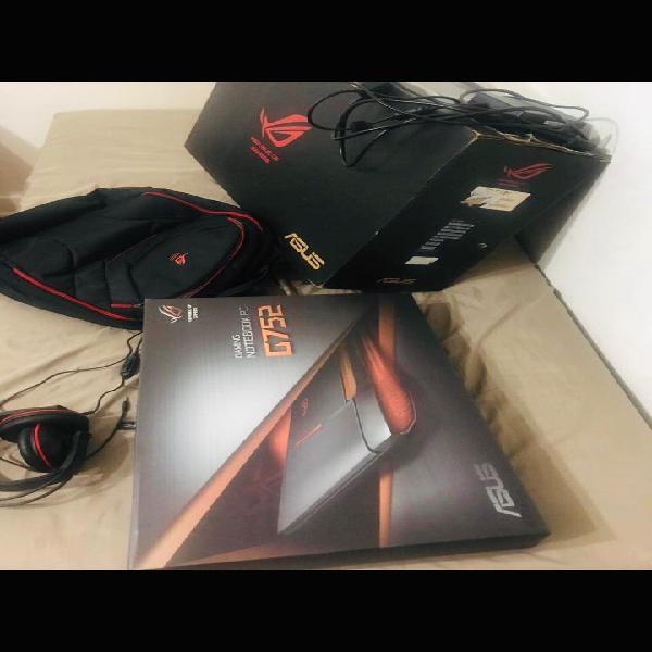 """Asus rog-g752vm-gc072t 17"""" gaming laptop, nvidia geforce"""