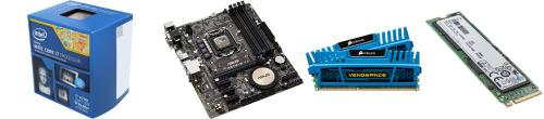 Intel core i7-4790 + asus h97m-e motherboard + corsair