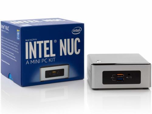 Intel nuc5cyh celeron n3050 4gb ram 120gb ssd tiny pc (used)