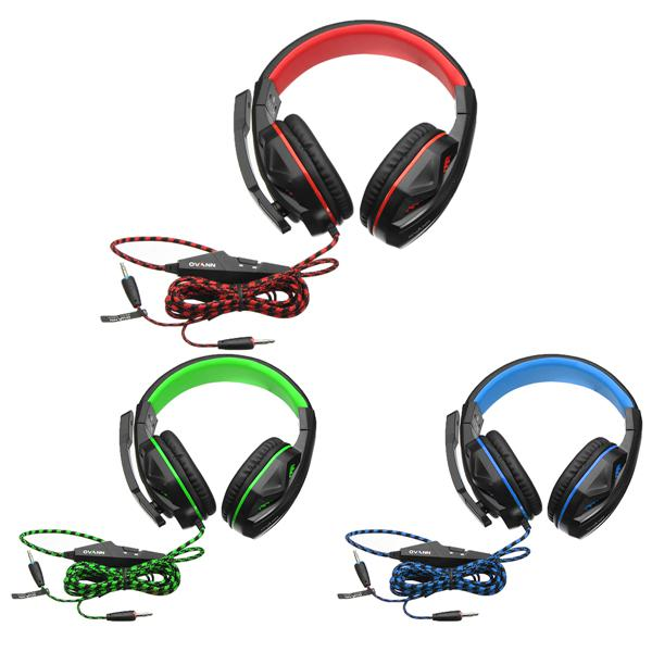 Ovann x2 3.5mm stereo headset with microphone volume control