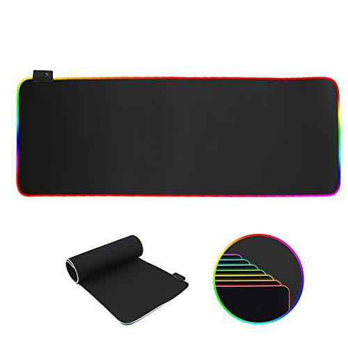 Rgb gaming mouse pad extra large, oversized waterproof