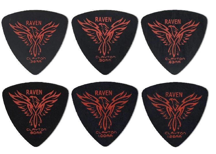 Clayton Black Raven Guitar Picks (Select from gauges.38mm -