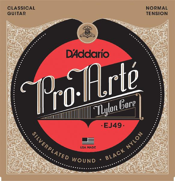 D'Addario EJ49 Pro-Arte Black Nylon Classical Guitar