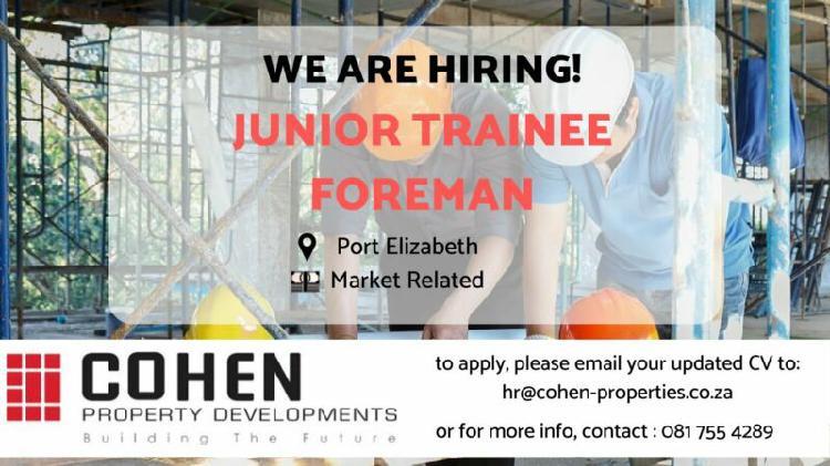 Junior trainee foreman