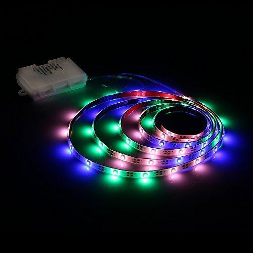 Led strip lights battery powered, zanflare pgb 2m/6.56ft 8