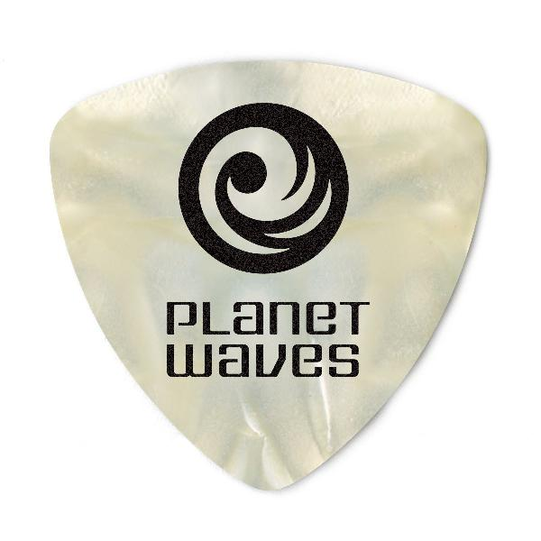 Planet Waves White Pearl Celluloid Guitar Picks, 10 pack,