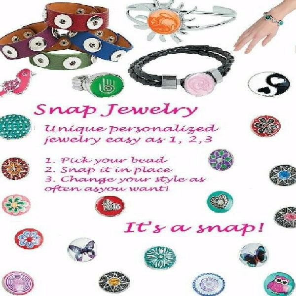 Snap jewellery (interchangeable).new catalogue