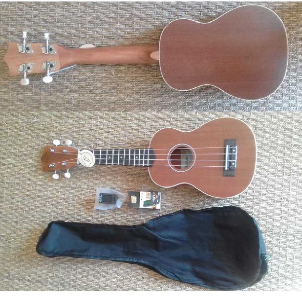 Waikiki pack sapele wood soprano ukulele pack with bag and
