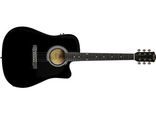 Fender squier acoustic guitar black sa-105ce