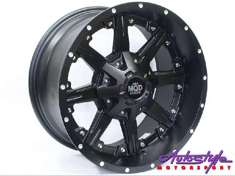 17 inch evo ambush 6 139 matt black wheels. suitable for
