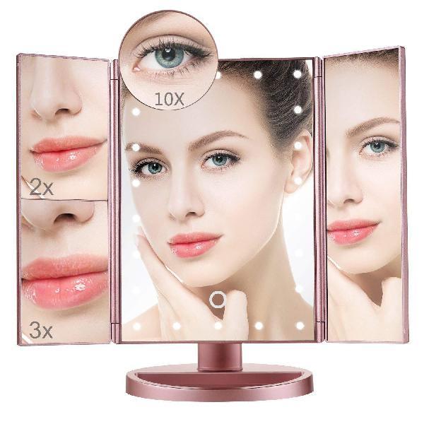 Makeup mirror,aiskki 10x/3x/2x/1x magnification mirror,180
