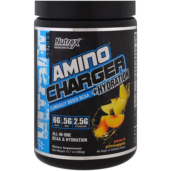 Nutrex research labs, amino charger + hydration, peach