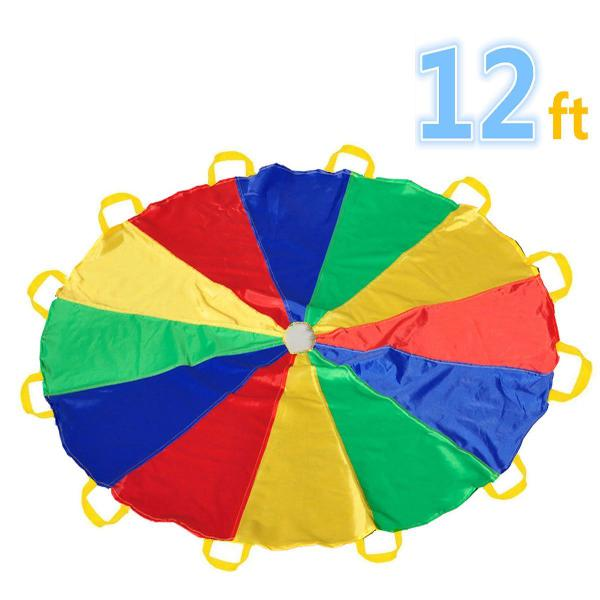 Sonyabecca Parachute 12 Foot for Kids with 12 Handles Play