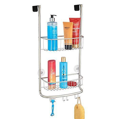 Mdesign modern metal bathroom tub and shower caddy, over