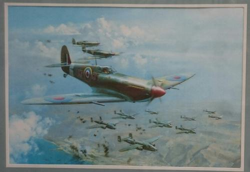 Print of top cover - spitfires