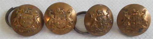 Set of south african army buttons
