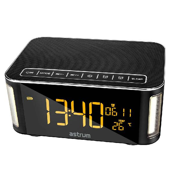 Astrum ST250 Bluetooth Speaker With Clock (A12525-B) -