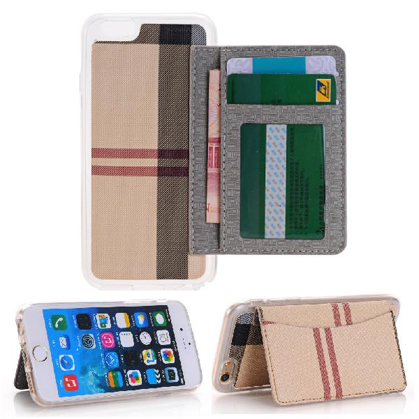 Stripe skin tpu protective case with card slots flip stand