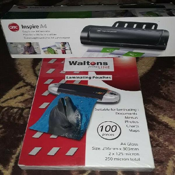 As new laminating machine & pouches