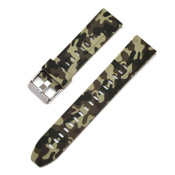 For Galaxy Watch 22mm Camouflage Silicone Watch Band(Army