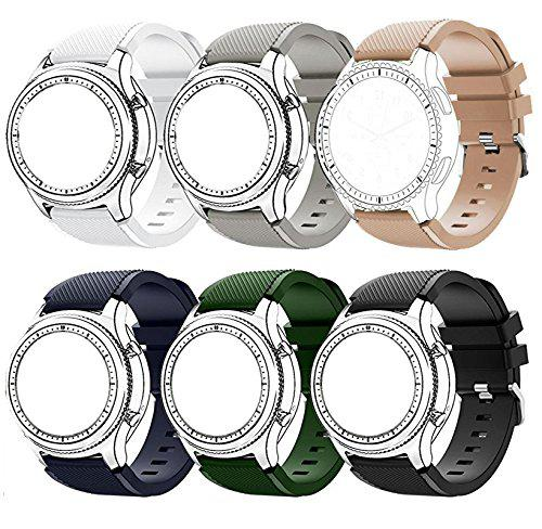 Gear s3 frontier/ s3 classic bands,datotech [6-pack] 22mm