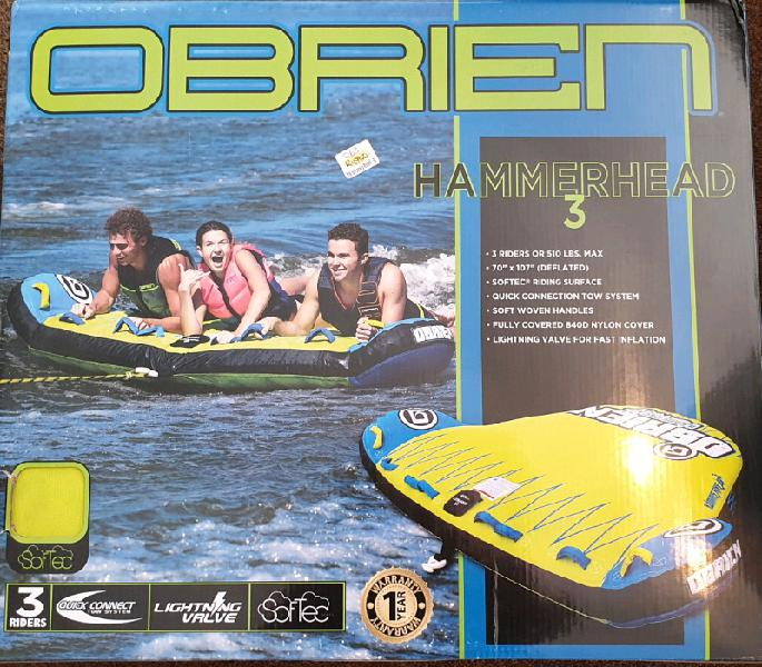 Obrien hammerhead 3 seater tube. brand new. can be delivered