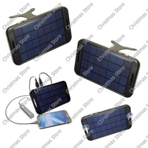 Portable solar power phone charger with dual usb 5v outputs
