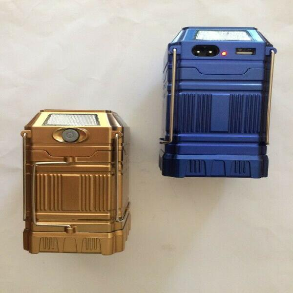 Portable solar rechargeable multi-led collapsible camping