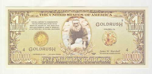 1 Million Gold Rush token (Commemorating California Gold