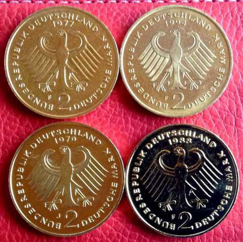2 German Mark Gold Plated, One Bid takes all 4