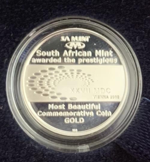 2012 Meerkat Natura Most beautiful coin award silver tickey
