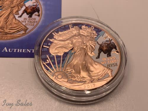2017 1oz american eagle liberty- new york stock exchange