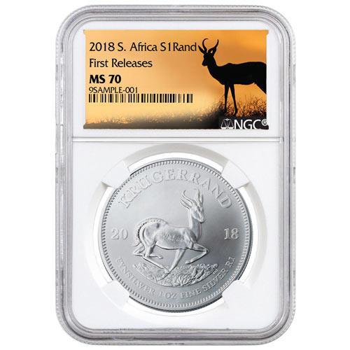 2018 BU Silver Krugerrand MS70