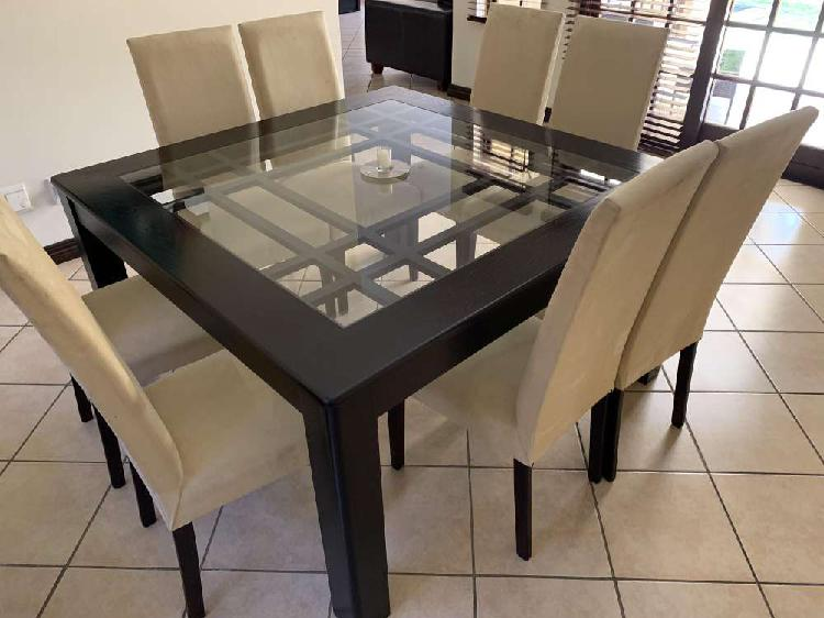 8 seater square dinning room set