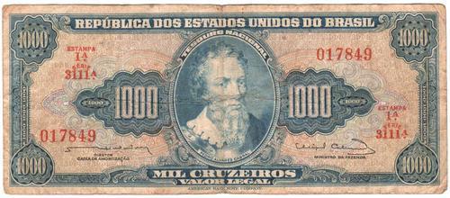 Brazil 1000 Cruzeros 1964 P.173c - as per scans
