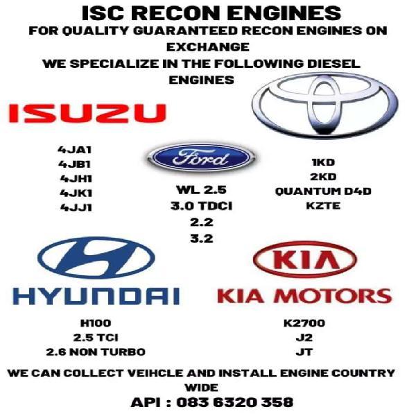 Isuzukb , kia k2700, toyota d4d , hyundai h100 engines for