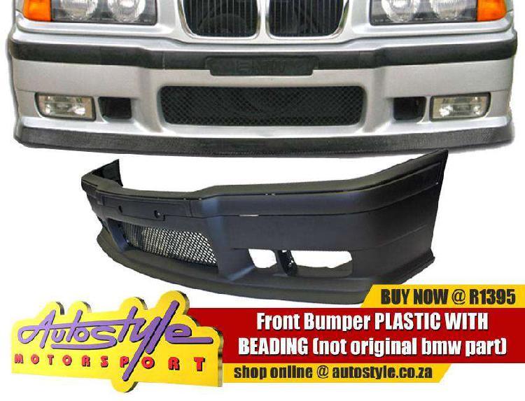 Non-original plastic sport front bumper suitable to fit bmw