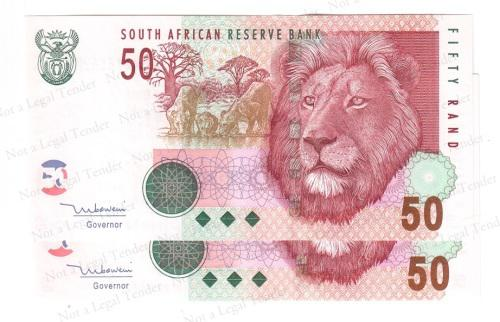 TT Mboweni ~ AA 856620 & 21 ~ 2nd Issue Consecutive nr's ~