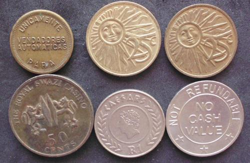 Tokens Various x 6