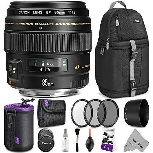 Canon ef 85mm f/1.8 usm lens w/ advanced photo and travel