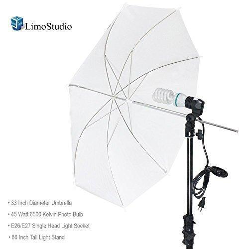 675W Continuous Lighting Kit Photo Studio Soft Umbrella Light Stand /& Carry Case