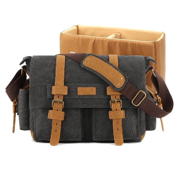 Plambag dslr camera bag, canvas slr messenger shoulder