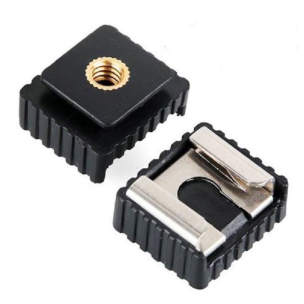 SC-6 Metal Hot Shoe Mount Adapter To 1/4 Inch Screw Thread