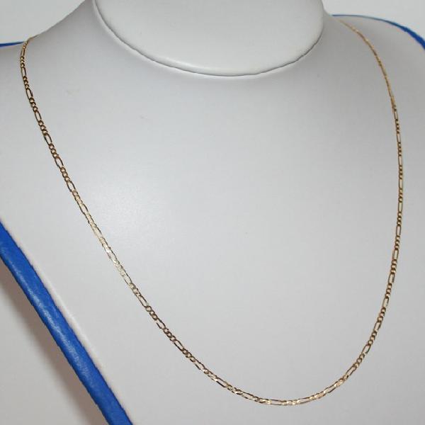 9k / 9ct gold chain: 3+1 figaro, 2.2mm wide, 60cm