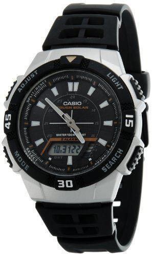Casio men's aqs800w-1ev black resin quartz watch with black