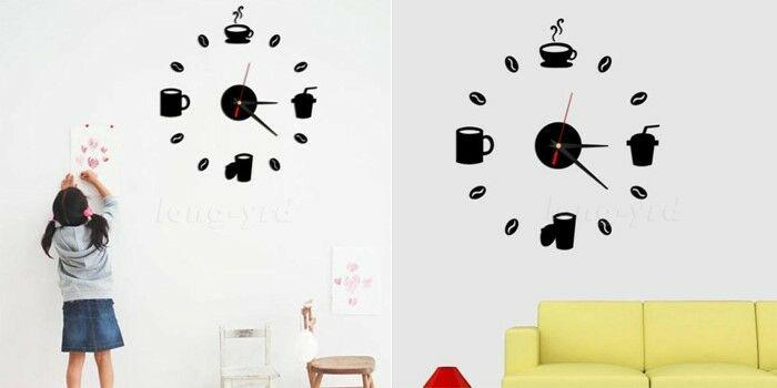 Fashion acrylic diy self adhesive interior wall creative