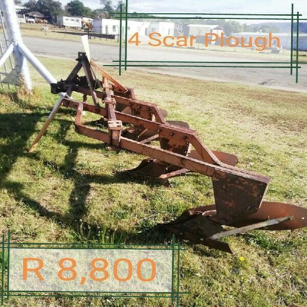 Four furrow plough