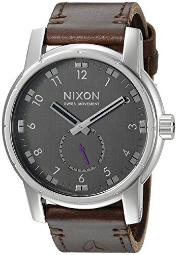 Nixon men's a938000 patriot stainless steel watch with brown