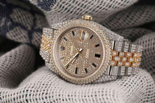 Rolex datejust 18k yellow gold/stainless steel with